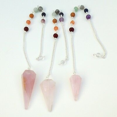 Rose Quartz Crystal Pendulum Spiritual Dowsing Scrying Divination