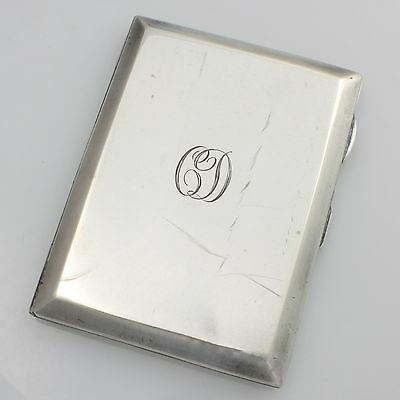 Small Art Deco Solid Sterling Silver Cigarette Card Case 89g Hallmarked 1925