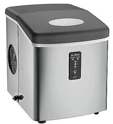 Igloo Counter Top Ice Maker with Over-Sized Ice Bucket, Stainless Steel