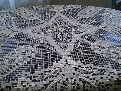 BEAUTIFUL Vintage TABLECLOTH  FILLET HANDMADE