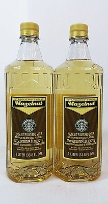 Starbucks Hazelnut Syrup 33.8 Fl oz Bottle 1 Liter No Pump