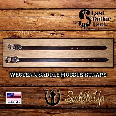 Western Saddle~ Fender Hobble Straps ~ Latigo Leather