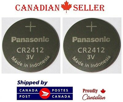 2 PC Genuine Panasonic CR2412 3V Lithium 2412 Coin Battery For 8F32A 8F33A 8F35A