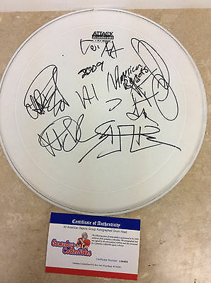 All American Rejects Group 2009 Autographed Signed DRUM HEAD w/COA drumhead