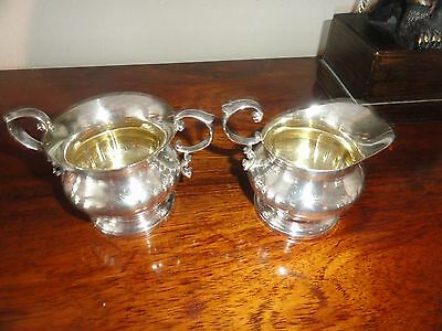 "Poole Sterling Silver Creamer & Sugar ""georgian"" Excellent!!"