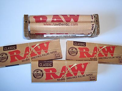 Raw Rolling Papers 1 1/4 Size, Raw Cigarette Roller - Tobacco Pipe Alternative