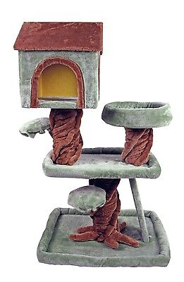 "39"" Special Cat Tree Robin Hood Tree House Playhouse Pet Bed Kitten Tower Condo"