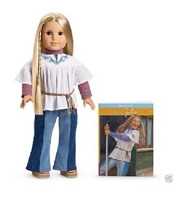 American Girl Doll Classic Julie with Paperback Book and Accessory NEW!! Retired