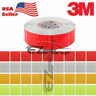 """3M Diamond Grade Conspicuity Tape 2"""" x 2"""" CE Approved Reflective Safety Sign"""