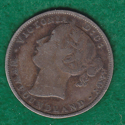 1881 New Foundland Silver 20 Cents