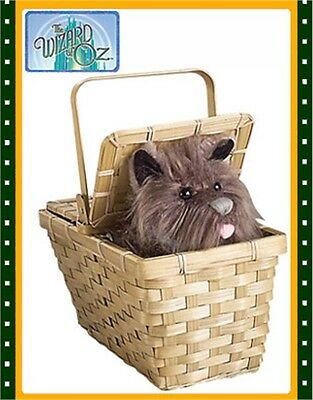New The Wizard of Oz Costume Accessory Toto in a Basket
