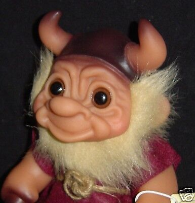 "VIKING Dam Troll Doll 6"" NEW IN BAG Warrior MARKED: 1965 MADE IN DENMARK"
