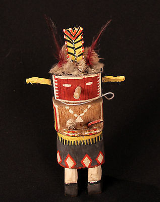 """Antique Hopi Kachina: Route 66 pre-1940 8"""" , collected 1940"""