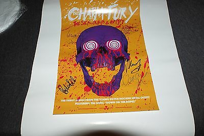 THE CHARM THE FURY SIGNED The Sick, Dumb & Happy PROMO POSTER EXACT PROOF COA CD