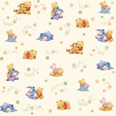 Dollhouse Miniature Baby Pooh Wallpaper 1:12 Nursery Piglet Tigger Eyeore