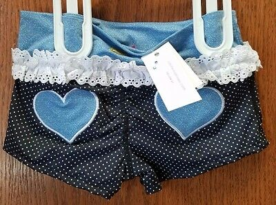 NEW California Kisses Dance Denim Hearts Short CKB371c SC-LC