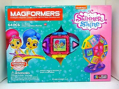 Magformers Shimmer and Shine Intelligent Magnetic Construction Set, 64 Pcs
