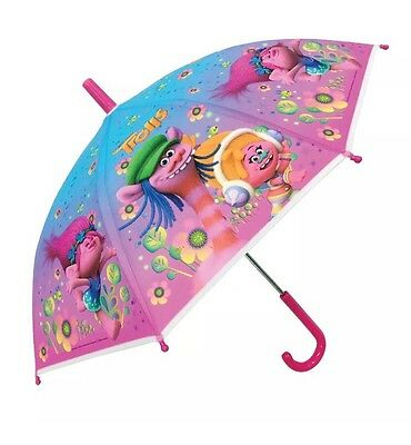 TROLLS UMBRELLA Brolly KIDS School GIRLS  Bubble Umbrella Trolls Rain Cover Gift