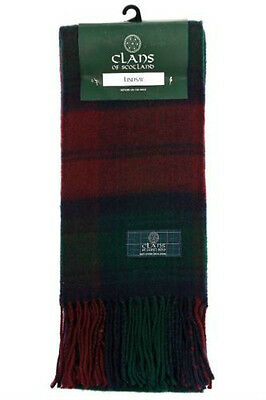 Scottish 100% Wool Luxury Tartan Clan Scarf Lindsay Clan New