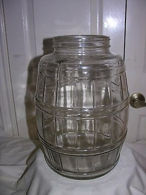 EUC Pickle Barrel Jar Antique Glass Primitive Country Store 2.5 Gallon