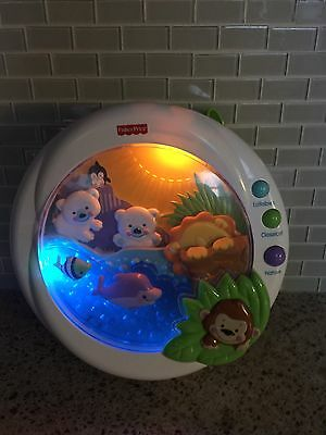 Fisher Price Baby Crib Soother Lights, Motion, Music, Nature Sounds Jungle Theme