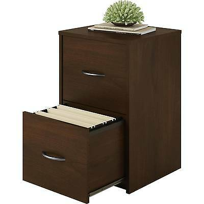 2 Drawer Cabinet File Office Wood Storage Home Furniture Cherry Document Storage