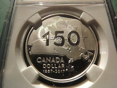 2017 Canada $1 1Oz Silver 150Th Anniversary Ngc Pf69 Ultra Cameo Pop 24!