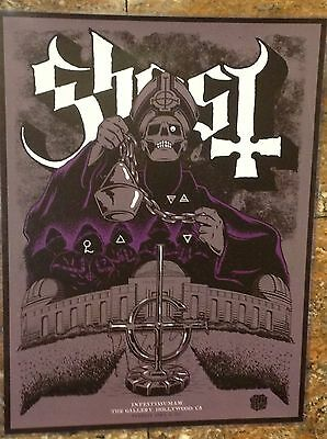 Signed Authentic Autographed Ghost B.C. Lithograph Papa Emeritus Nameless Ghouls