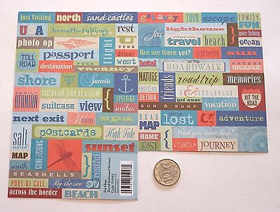 Scrapbooking No 137 - 85 Small To Medium Travel Saying Stickers