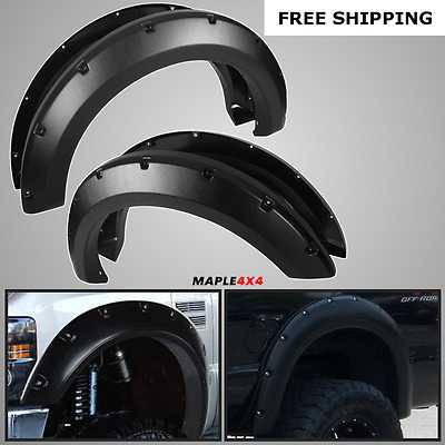 08-10 Ford F250 F350 Superduty [4 PC SET] POCKET RIVET Paintable Fender Flares