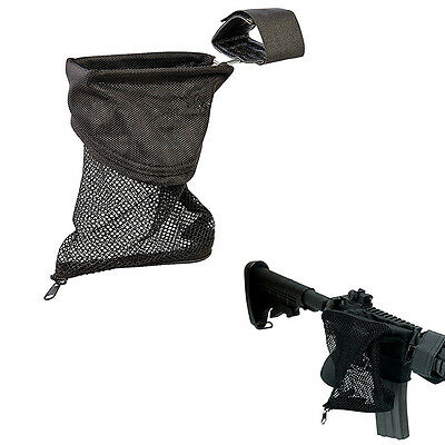 AR Brass Shell Catcher Trap Mesh Bag Capture Black 223 /5.56 For Outdoor Hunting