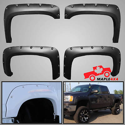 07-13 GMC SIERRA 1500 2500HD/3500HD Rivet Fender Flares Pocket Style 6.5' 8' BOX