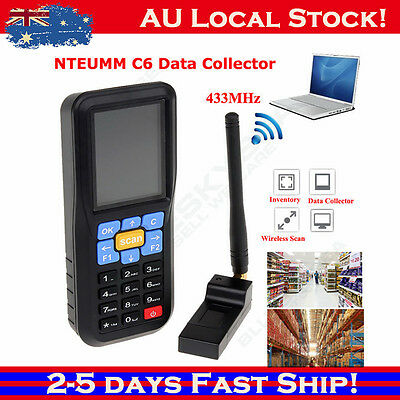 "NTEUMM 2.4"" Wireless Barcode Scanner Data Inventory Collector Mechine + Battery"