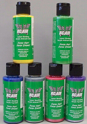 BADGER AIRBRUSH RC Air Lexan 6 colour metallic airbrush paint set