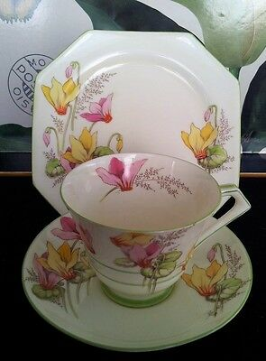 "Deco  Paragon Trio ""cyclamen"" C1930S"