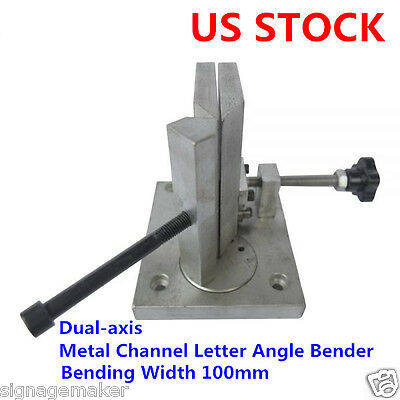 US Stock Dual-axis Metal Channel Letter Angle Bender Tools, Bending Width 100mm