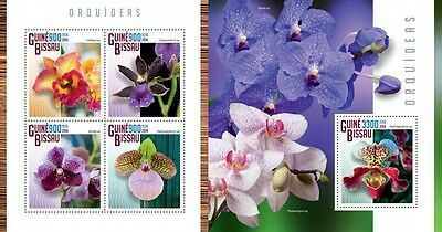 GB14801ab Guinea-BISSAU 2014 orchids orchidees MNH SET