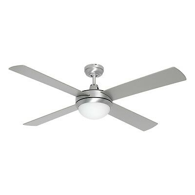 NEW Mercator Caprice Brushed Steel 52Inch Ceiling Fan with Light- FC252134BS