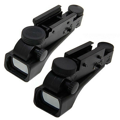 Tactical Reflex Red Dot Wide View Sight Scope 10/20mm Weaver Rail Mounts New