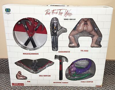 Pink Floyd Series 1 RARE Wall Figures Box Set MIB SEG Toy shirt album guitar tix