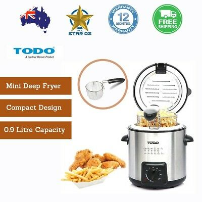 Electric Deep Fryer Stainless Steel Basket Benchtop Portable Todo New