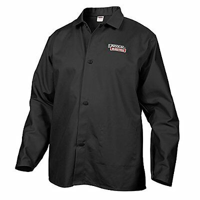 Lincoln Electric Black Large Flame-Resistant Cloth Welding Jacket New