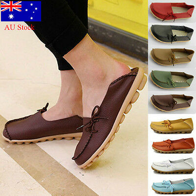 AU STOCK New Fashion Women Boat Shoes Flat Soft Shoes Slip On Girls Casual Shoes