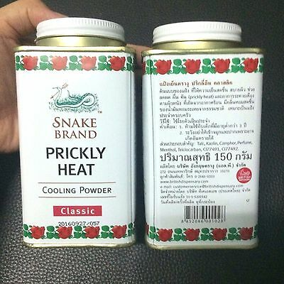 150G. Snake Brand Prickly Heat Cooling Powder Soothing Classic Free Int Postage