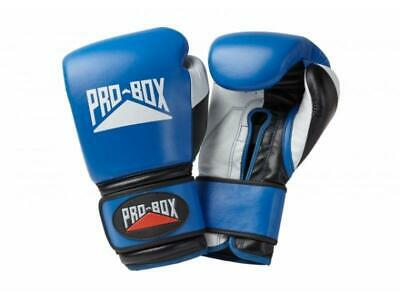 Pro Box Boxing Gloves - Pro Spar Leather Sparring Gloves Blue
