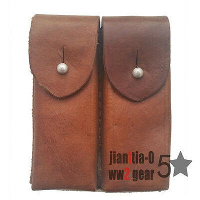 Original Leather Type 54 Ammo Pouch MAKAROV Clip 2 Cells Package