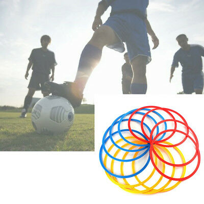 12Pcs Sports Training Agility Speed Rings Hoops Football Soccer Basketball 40cm