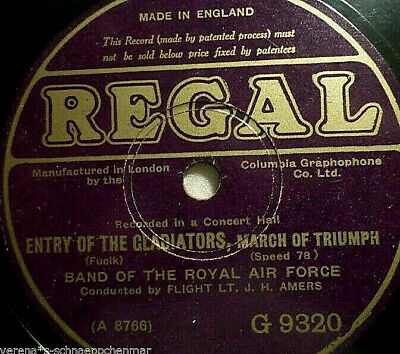 """BAND OF THE ROYAL AIR FORCE """"Under The Double Eadle/ Entry Of The Gladiators"""""""