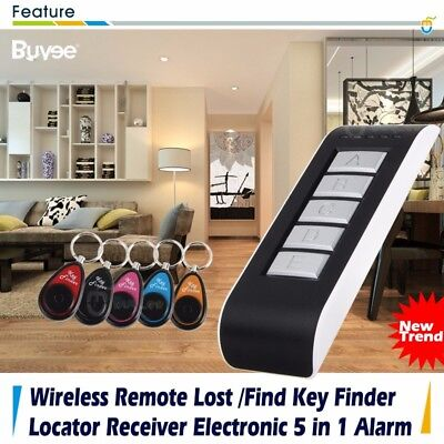 5 in 1 Wireless Remote Electronic Alarm Key Wallet LOST Locator Finder Receiver