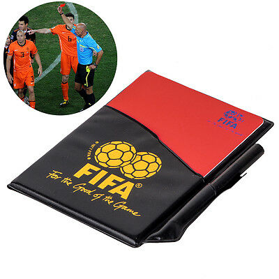 Soccer Football Sports Referee Wallet Case Red Card and Yellow Card Score Sheets